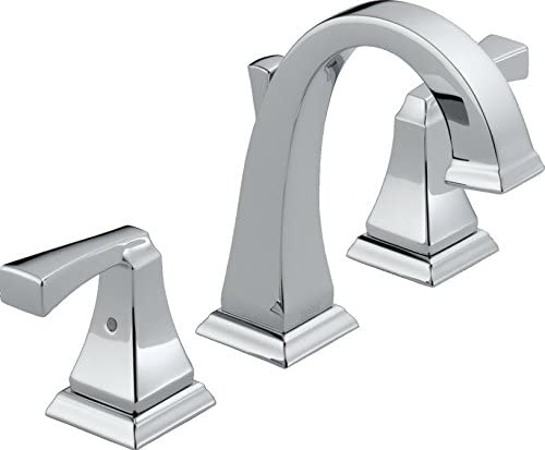 Delta Fauacet Dryden 2-Handle Widespread Bathroom Faucet with Metal Drain Assembly, Chrome 3551LF