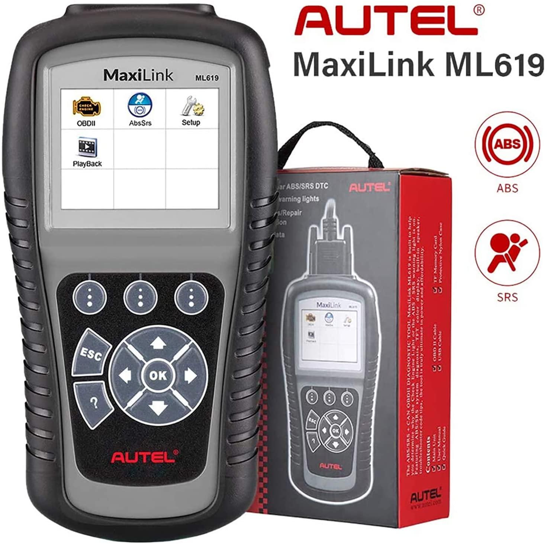 ABS SRS OBD2 Autel Scanner Maxilink ML619