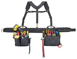 CLC Custom Leathercraft 1608 Electrician's Comfort Lift Combo Tool Belt, 28 Pocket