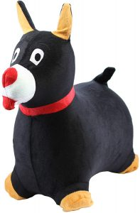 Chromo Bouncy Hopping Toy Cute Pooch Dog Inflatable Jumper with Washable Plush Cover